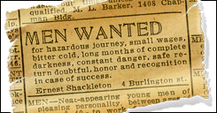 Men Wanted for Dangerous Journey